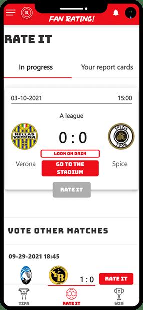 Fan Rating Football Fantasy App